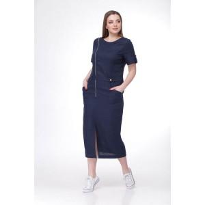 MALI 495 Платье (тёмно-синий)
