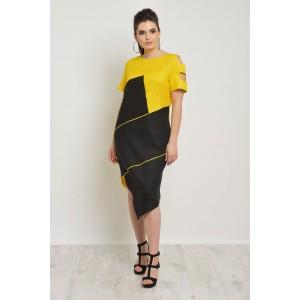 MALI 498 Платье (черно-желтый)