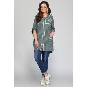 MATINI 41084 Блуза (полоски с серо-зеленым)