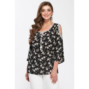 MATINI 41194 Блуза (черный/цветы)