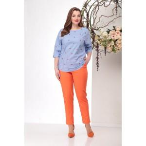MICHEL-CHIC 1151 Костюм брючный (оранжеый + голубой)