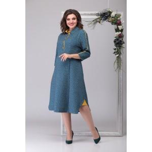 MICHEL-CHIC 2027 Платье (стальной-голубой)