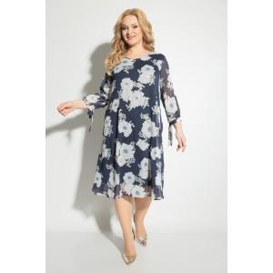 MICHEL-CHIC 2049 Платье (синий цветочный принт)