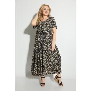 MICHEL-CHIC 2053 Платье (черное в принт)