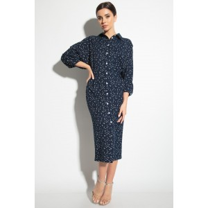 MICHEL-CHIC 2055 Платье (синий в горох)