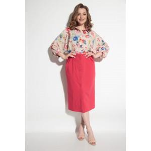 MICHEL-CHIC 2055 Платье (розовое в цветочный принт)