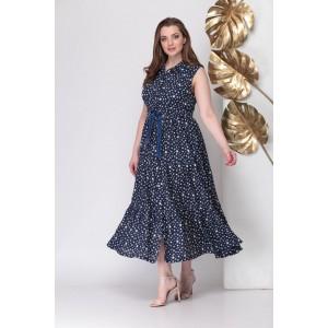 MICHEL-CHIC 934 Платье (темно-синий + белые звезды)