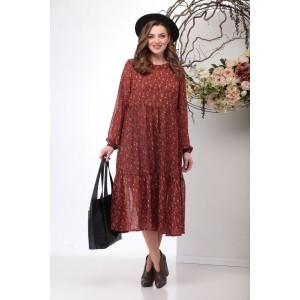 MICHEL-CHIC 957 Платье (коричнево-красный)