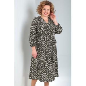 MILANA 197-1 Платье (тёмный оливково-зелёный)