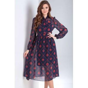 MILANA 199-1 Платье (тёмно-синий)