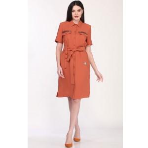 MILANA 219 Платье (красно-оранжевый)