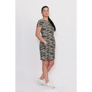 MIROLIA 549 Платье (камуфляж)