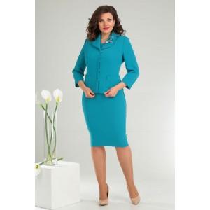MODA-URS 2370 Платье с жакетом (ярко-голубой)