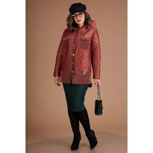 MODA-URS 2381 Куртка (рыжий + отделка вельвет)