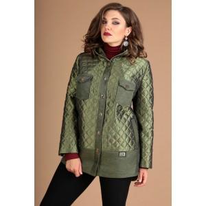 MODA-URS 2381 Куртка (зеленый + отделка однотон)