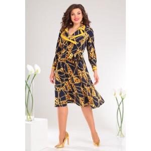 MODA-URS 2398А Платье (синий + цепи)