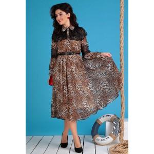 MODA-URS 2544 Платье (леопард)