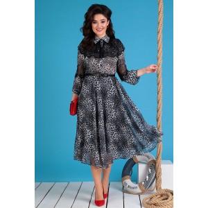 MODA-URS 2544 Платье (серый леопард)