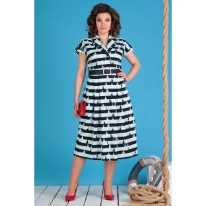 MODA-URS 2548-1 Платье (синий + мята)