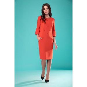 NADIN-N 1772-1 Платье (оттенки оранжевого)