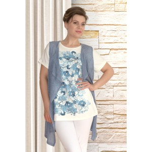 NEEDLE REVERTEX 346-1 Блузка с жилетом