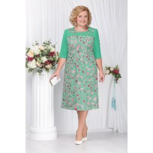 NINELE 2114 Платье (зеленый)