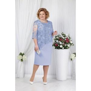 NINELE 2148 Платье (темно-голубой)