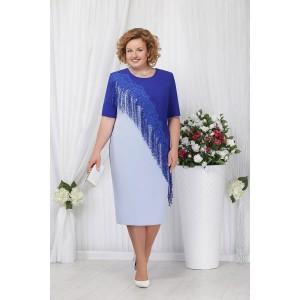 NINELE 2152 Платье (голубой/василек)