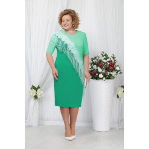 NINELE 2152 Платье (зеленый/светло-зеленый)