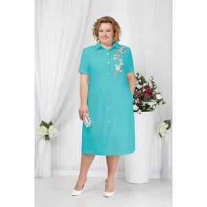 NINELE 2154 Платье (бирюза)