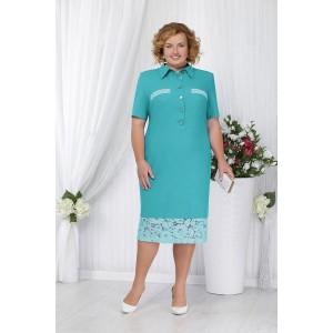 NINELE 2162 Платье (бирюза)