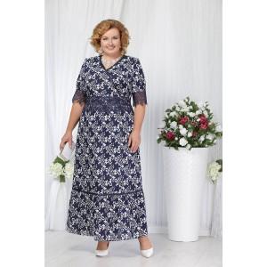NINELE 2163 Платье (синие цветы)