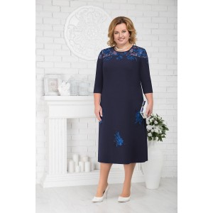 NINELE 2175 Платье (синий)