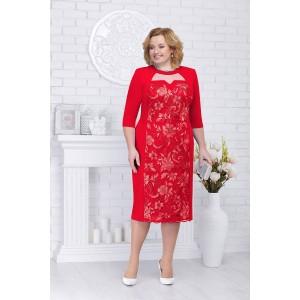 NINELE 2217 Платье (красный)