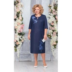 NINELE 2227 Платье (синий)