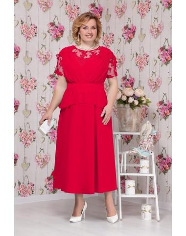 NINELE 5531 Платье красное