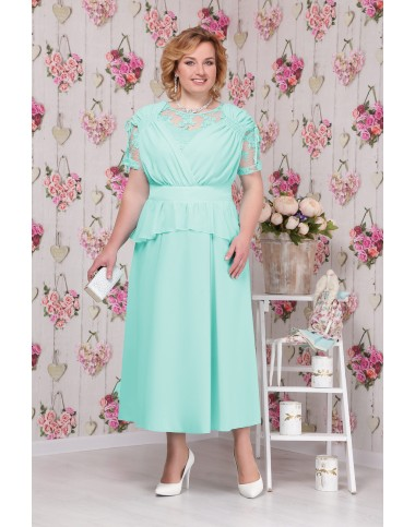 NINELE 5531 Платье бирюза