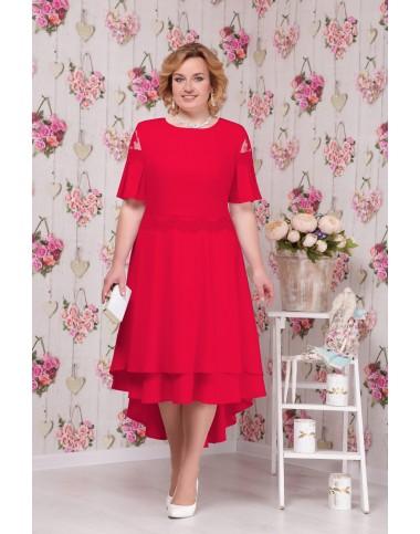 NINELE 5533 Платье красное
