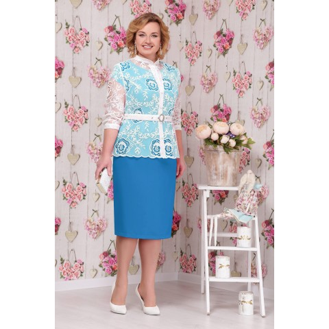 NINELE 5535 Платье василек