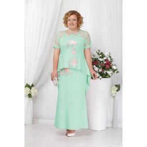 NINELE 5536 Платье (светло-зеленый)