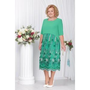 NINELE 5565 Платье (зеленый)