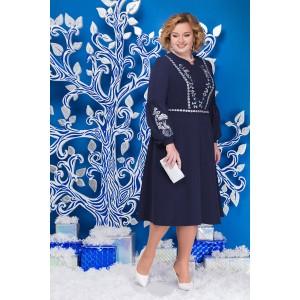 NINELE 5590 Платье (синий)