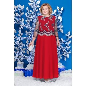 NINELE 5596 Платье (красный+синий)