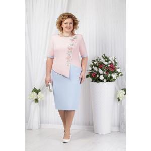 NINELE 5619 Платье (пудра/голубой)