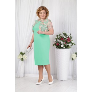 NINELE 5621 Платье (светло-зеленый)