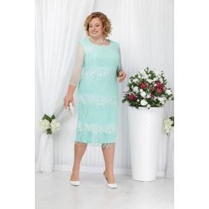 NINELE 5622 Платье (светло-зеленый)