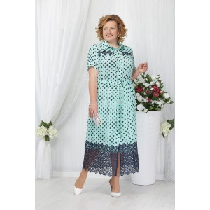 NINELE 5624 Платье (мята/синие горохи)
