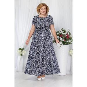 NINELE 5643 Платье (синие ромашки)