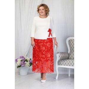NINELE 5656 Комплект юбочный (красный)