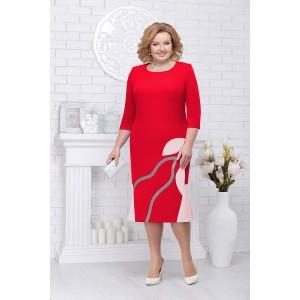 NINELE 5693 Платье (красный/пудра)